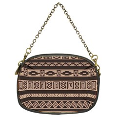 Ethnic Pattern Vector Chain Purses (two Sides)