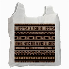 Ethnic Pattern Vector Recycle Bag (one Side)