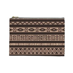 Ethnic Pattern Vector Cosmetic Bag (large)