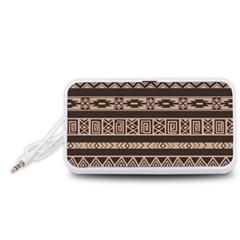 Ethnic Pattern Vector Portable Speaker (white)