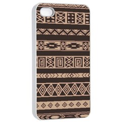 Ethnic Pattern Vector Apple Iphone 4/4s Seamless Case (white)