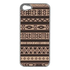 Ethnic Pattern Vector Apple Iphone 5 Case (silver)