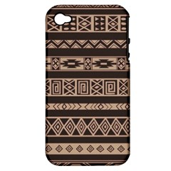 Ethnic Pattern Vector Apple iPhone 4/4S Hardshell Case (PC+Silicone)