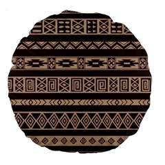 Ethnic Pattern Vector Large 18  Premium Round Cushions