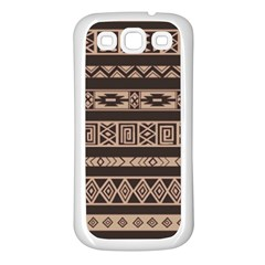Ethnic Pattern Vector Samsung Galaxy S3 Back Case (white)