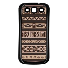 Ethnic Pattern Vector Samsung Galaxy S3 Back Case (Black)
