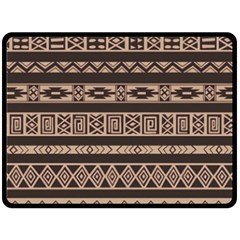 Ethnic Pattern Vector Double Sided Fleece Blanket (large)