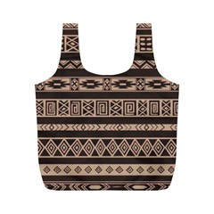Ethnic Pattern Vector Full Print Recycle Bags (m)
