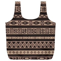 Ethnic Pattern Vector Full Print Recycle Bags (l)