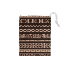 Ethnic Pattern Vector Drawstring Pouches (small)