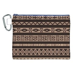 Ethnic Pattern Vector Canvas Cosmetic Bag (xxl)