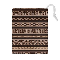 Ethnic Pattern Vector Drawstring Pouches (extra Large)