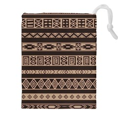 Ethnic Pattern Vector Drawstring Pouches (xxl)