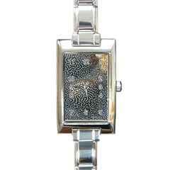 Coral Pattern Rectangle Italian Charm Watch