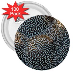 Coral Pattern 3  Buttons (100 Pack)