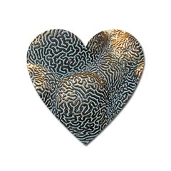 Coral Pattern Heart Magnet