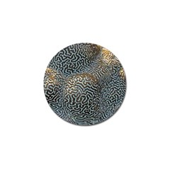 Coral Pattern Golf Ball Marker