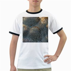 Coral Pattern Ringer T Shirts