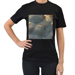 Coral Pattern Women s T Shirt (black) (two Sided)