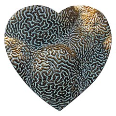 Coral Pattern Jigsaw Puzzle (heart)