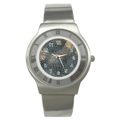 Coral Pattern Stainless Steel Watch