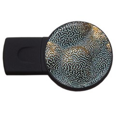 Coral Pattern Usb Flash Drive Round (4 Gb)