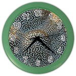 Coral Pattern Color Wall Clocks Front