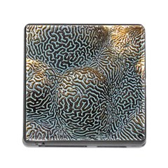 Coral Pattern Memory Card Reader (Square)