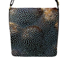 Coral Pattern Flap Messenger Bag (l)