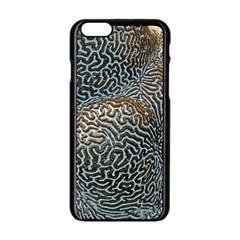 Coral Pattern Apple iPhone 6/6S Black Enamel Case