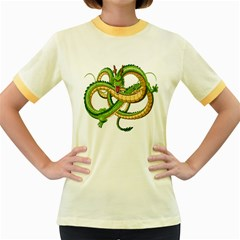 Dragon Snake Women s Fitted Ringer T Shirts
