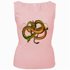 Dragon Snake Women s Pink Tank Top