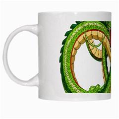 Dragon Snake White Mugs