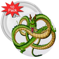 Dragon Snake 3  Buttons (10 Pack)