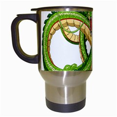 Dragon Snake Travel Mugs (White)