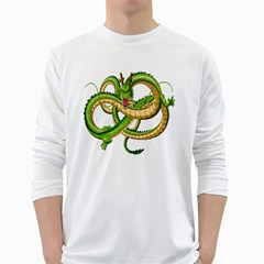 Dragon Snake White Long Sleeve T Shirts
