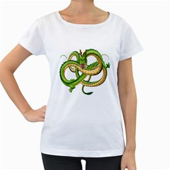 Dragon Snake Women s Loose Fit T Shirt (white)