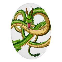 Dragon Snake Oval Ornament (Two Sides)