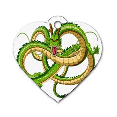Dragon Snake Dog Tag Heart (two Sides)