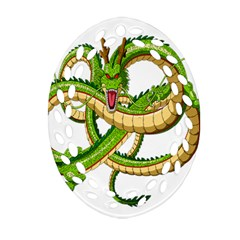 Dragon Snake Oval Filigree Ornament (Two Sides)