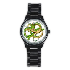 Dragon Snake Stainless Steel Round Watch