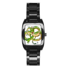 Dragon Snake Stainless Steel Barrel Watch