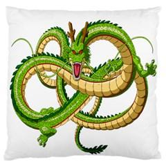 Dragon Snake Large Flano Cushion Case (one Side)