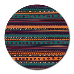 Ethnic Style Tribal Patterns Graphics Vector Round Mousepads
