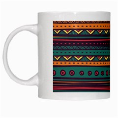 Ethnic Style Tribal Patterns Graphics Vector White Mugs