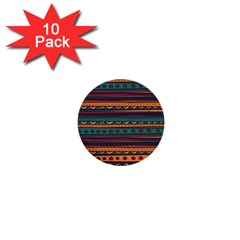 Ethnic Style Tribal Patterns Graphics Vector 1  Mini Buttons (10 Pack)