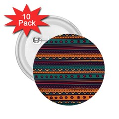 Ethnic Style Tribal Patterns Graphics Vector 2 25  Buttons (10 Pack)