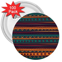 Ethnic Style Tribal Patterns Graphics Vector 3  Buttons (100 pack)