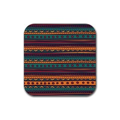Ethnic Style Tribal Patterns Graphics Vector Rubber Coaster (square)