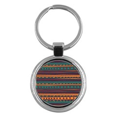 Ethnic Style Tribal Patterns Graphics Vector Key Chains (Round)